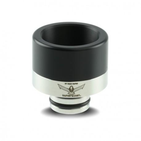 Drip Tip Large Inox/Delrin Noir