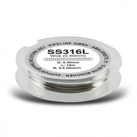 Fil résistif inox SS316 0,40mm