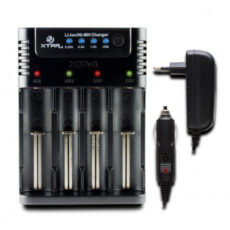 Chargeur d'accus XTAR XP4 à 4 baies