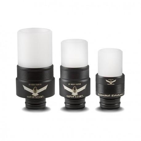 Drip tip Vapor Giant Noir Delrin Blanc Limited