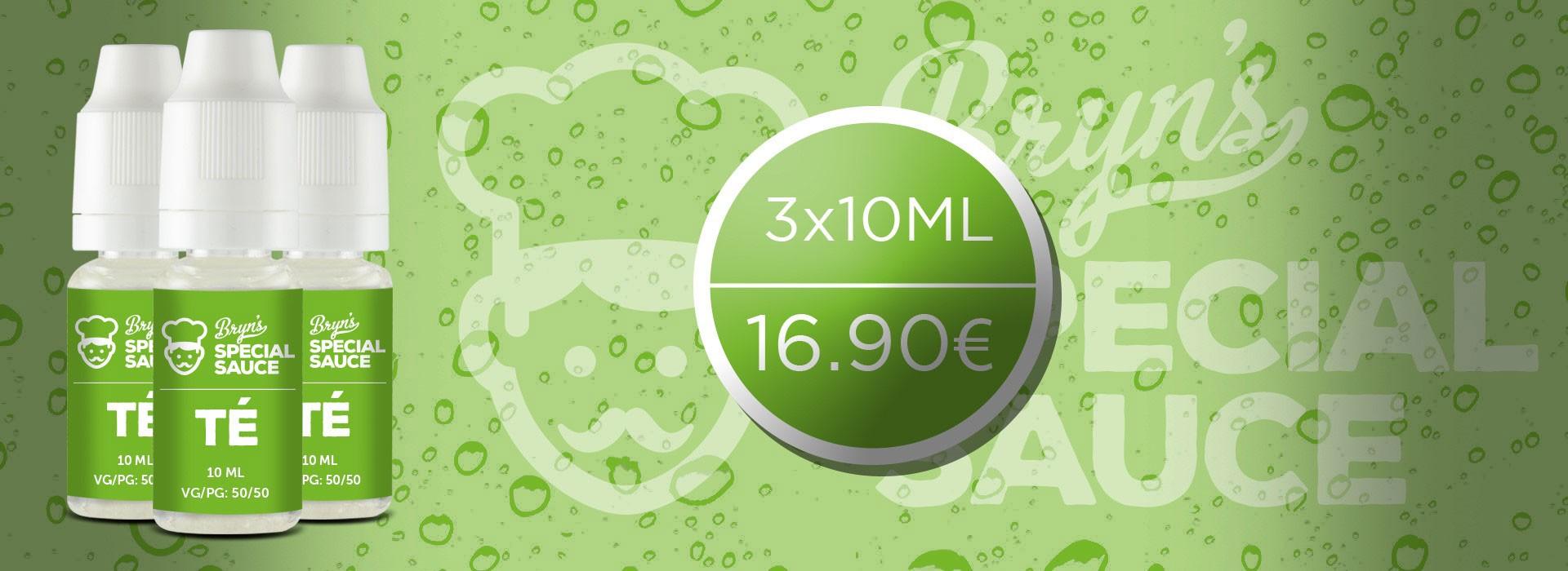 E-liquide phare de la gamme Bryn's Special Sauce, l'e-liquide Té est né d'une association de saveurs rares et intenses.